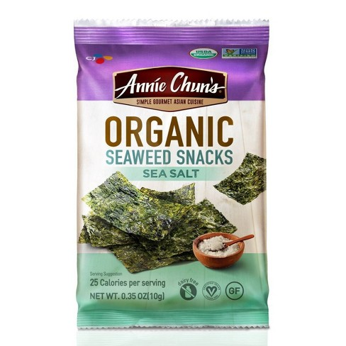Annie Chun's Organic Seaweed Snacks Sea Salt 0.35oz - image 1 of 4
