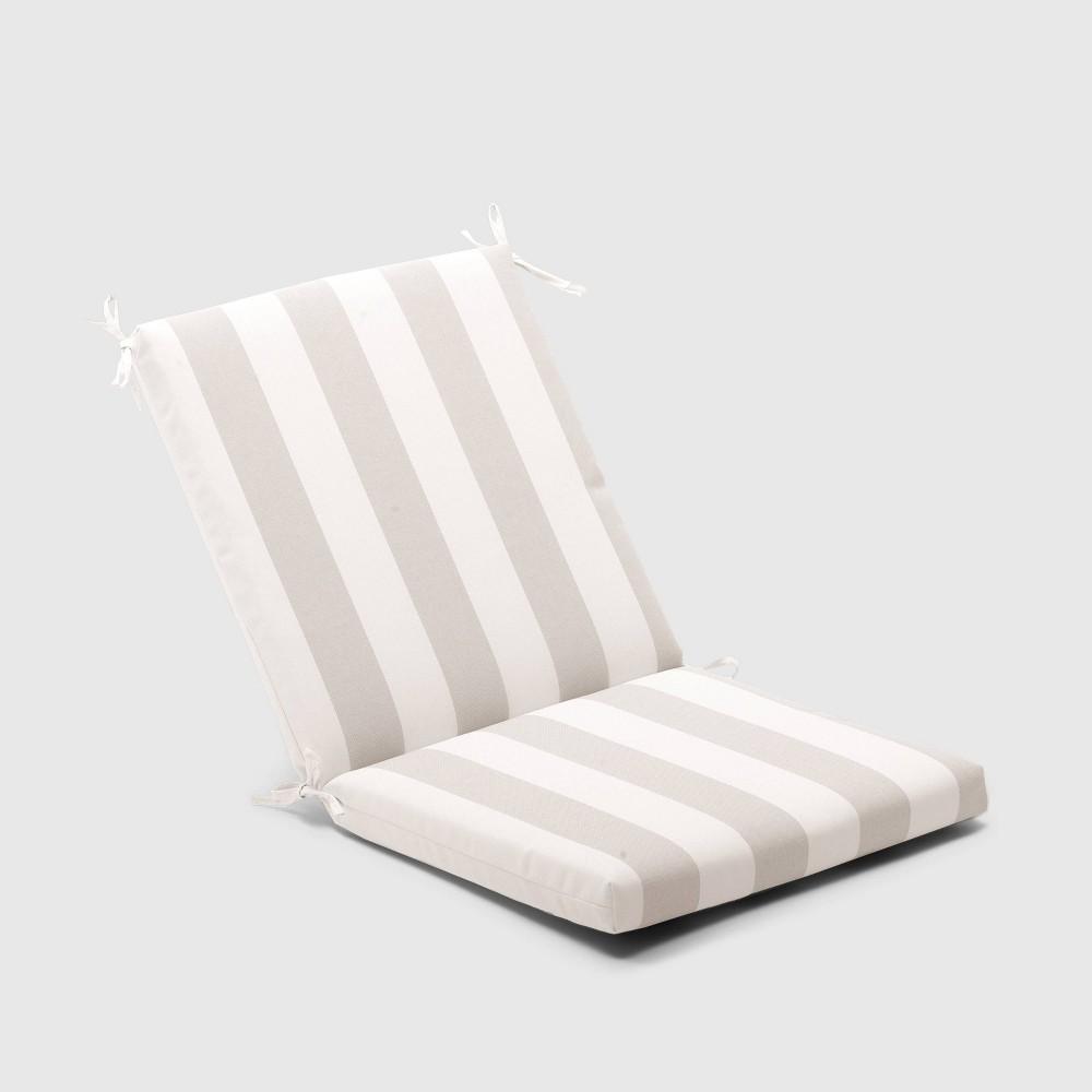 Cabana Stripe Outdoor Chair Cushion Tan - Threshold