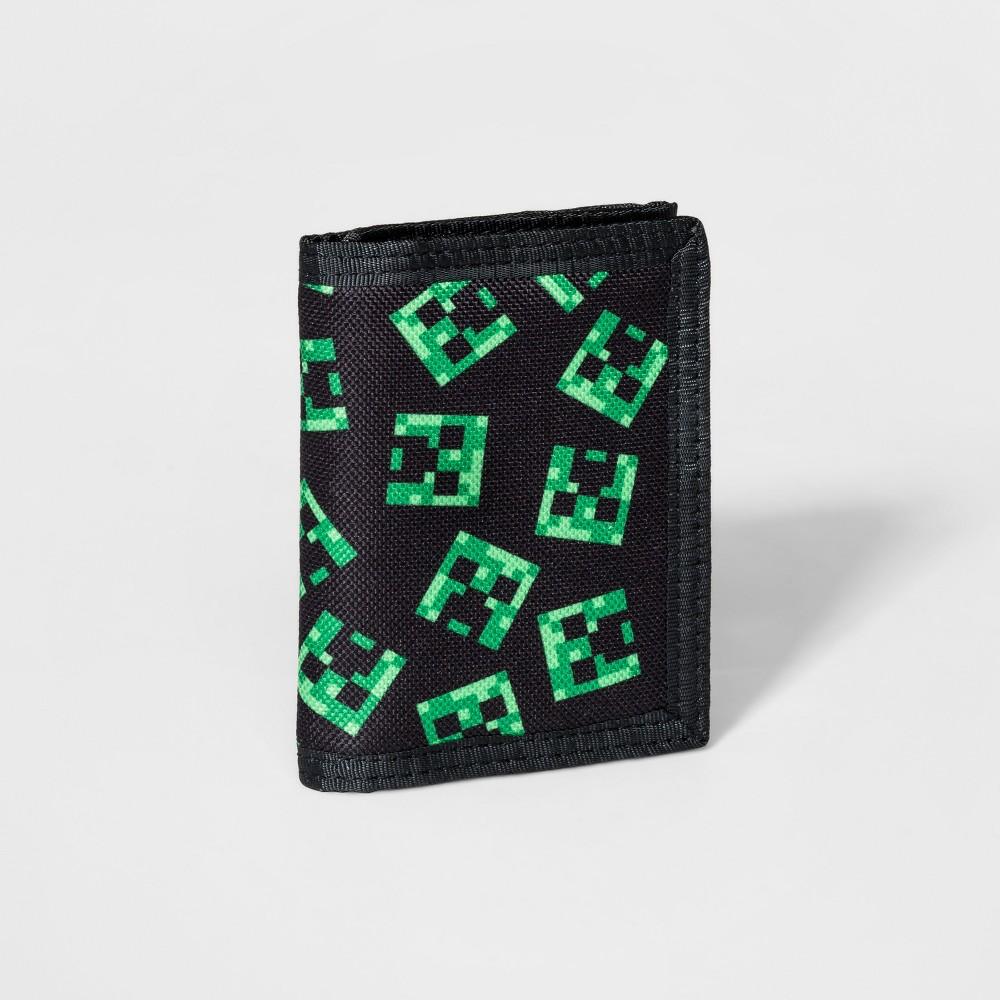 Boys' Minecraft Tri-Fold Wallet - Black, Size: Small