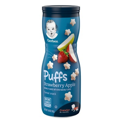 Gerber Strawberry Apple Baby Puffs - 1.48oz