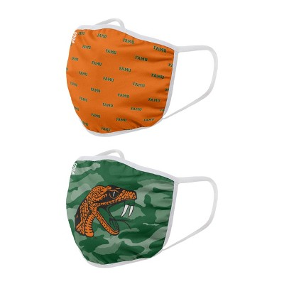 NCAA Florida A&M Rattlers Adult Face Covering 2pk