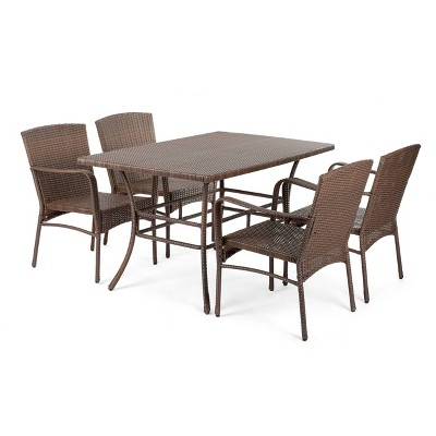 5pc Leisure Collection Patio Dining Set - W Unlimited