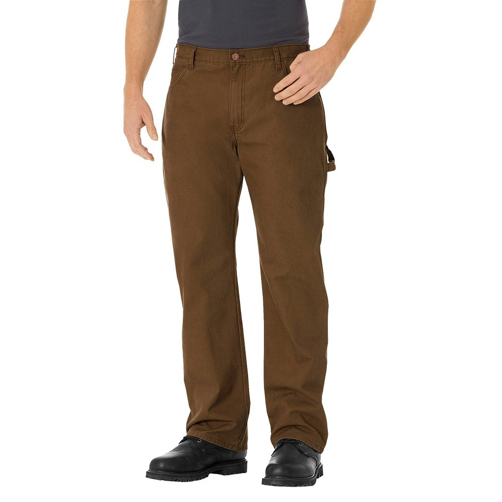 Dickies Men's Relaxed Straight Fit Lightweight Duck Canvas Carpenter Jeans - Timber 36x30