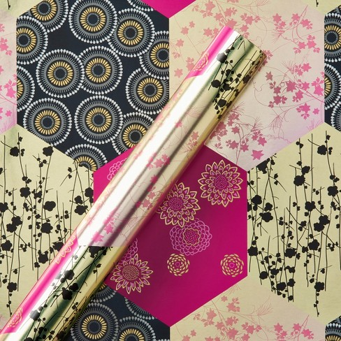 Papyrus Radiant Orchid Roll Wrap - image 1 of 3