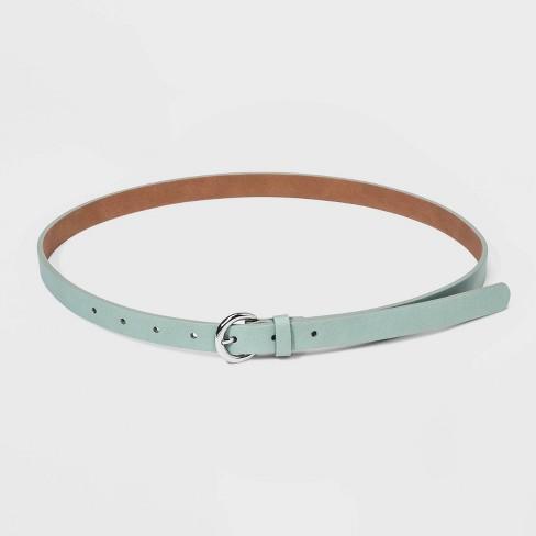 Women's Skinny Belt - A New Day™ Mint - image 1 of 2