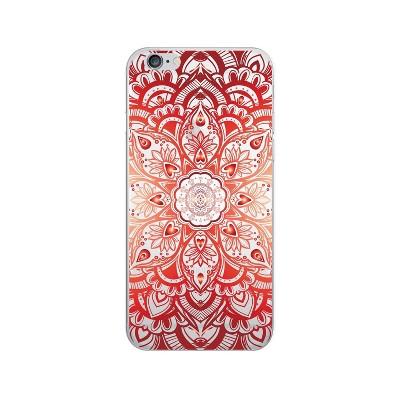 OTM Essentials Apple iPhone 8/7/6s/6 Plus Case Hybrid Mandala Heart Clear Orange/Red