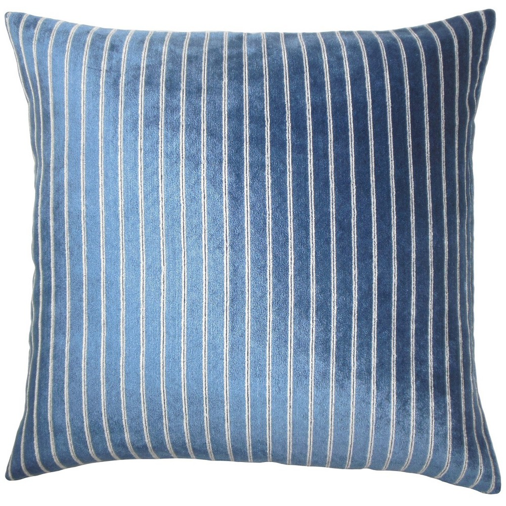 "Image of ""Bright Navy Square Throw Pillow (18""""x18"""") - The Pillow Collection"""