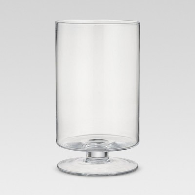 Footed Glass Vase - Clear (11.93 )- Threshold™