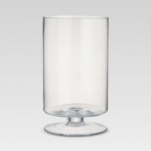Footed Glass Vase Clear 1193 Threshold Target