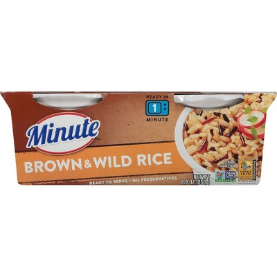 Minute Rice Gluten Free Brown & Wild Rice Microwaveable Bowl - 8.8oz/2ct