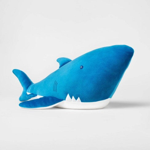 Weighted Plush Shark Throw Pillow - Pillowfort™ - image 1 of 2