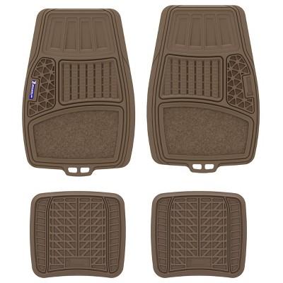 "Michelin 20""x34"" 4pc Rubber Floormat Set Brown"