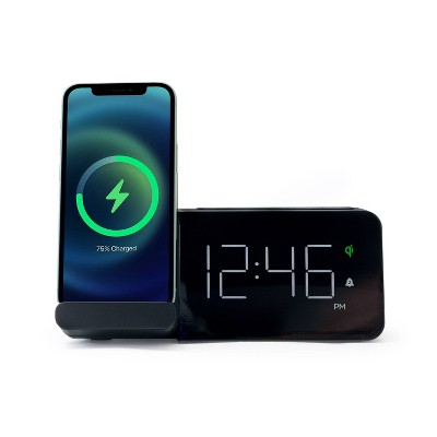 Power Stand Alarm Table Clock Black - Capello