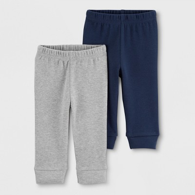 Baby Boys' 2pk Jogger Pants - Just One You® made by carter's Navy/Gray 6M