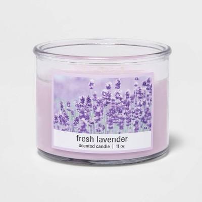 Glass Jar Fresh Lavender Candle