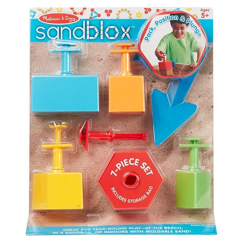 Melissa & Doug Sandblox Sand Shape-and-Mold Tool Set - image 1 of 4