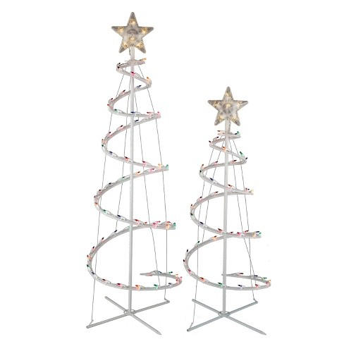 2ct Christmas Incandescent Spiral Trees Multicolored - Wondershop™ - image 1 of 1