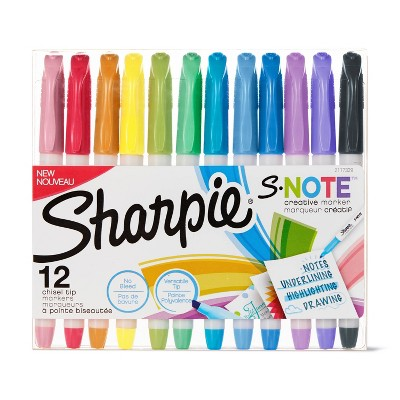 12pk Creative Marker Highlighters S-Note Chisel Tip Multicolor - Sharpie