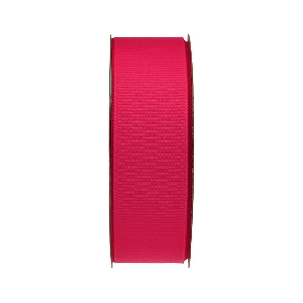 Pink Grosgrain Fabric Ribbon - Spritz