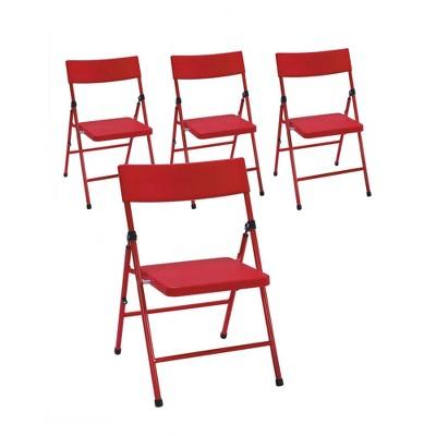 4pk Kids' Children's Pinch Free Folding Chair Red - Room & Joy