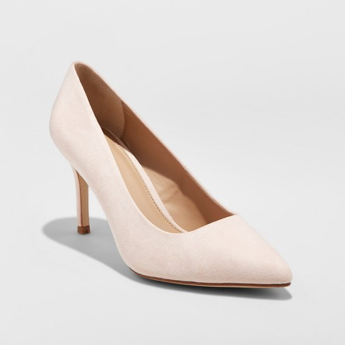 1758ce454e Women's Gemma Wide Width Pointed Toe Nude Pumps - A New Day ...