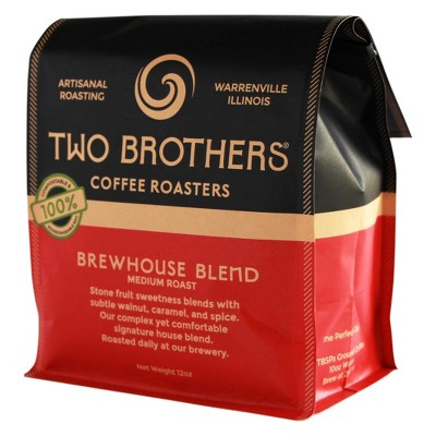 Two Brothers Brewhouse Blend Medium Roast Whole Bean Coffee - 12oz
