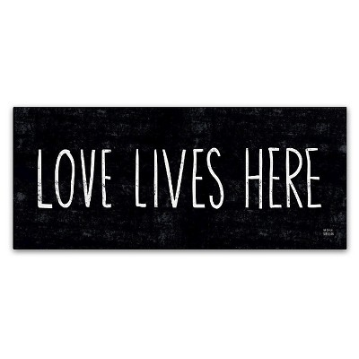 Love Lives Here' by Michael Mullan Ready to Hang Canvas Wall Art