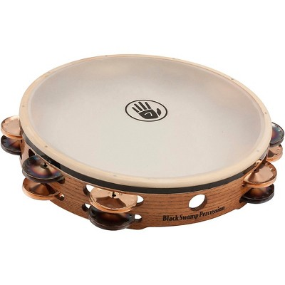 """Black Swamp Percussion SoundArt Series Double Row 10"""" Tambourine with Remo Head"""