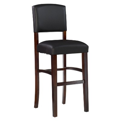 Morocco Upholstered Bar Stool Espresso Wood - Linon