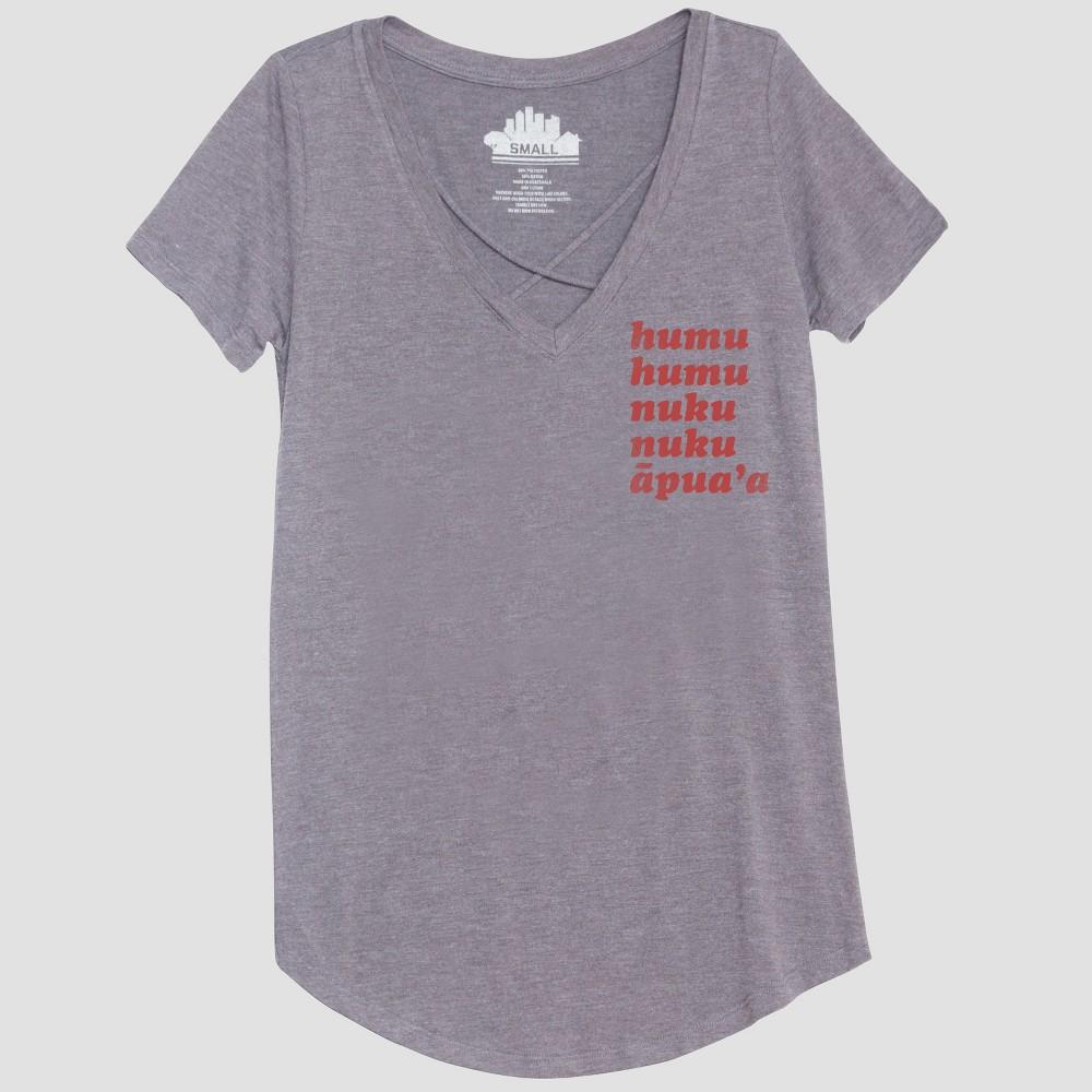 Women's Short Sleeve Humu Humu Graphic T-Shirt - Awake Heather Gray Xxl