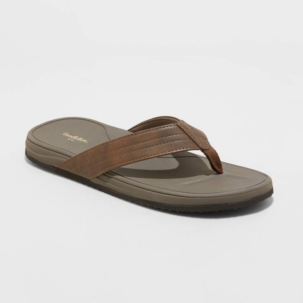 Men 39 S Guy Flip Flop Sandals Goodfellow 38 Co 8482 Brown Xl