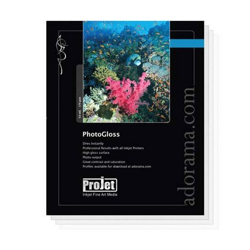 Projet Photo Gloss Resin Coated Inkjet Paper, 9.0 mil., 170 GSM, 5x7 , 100 Sheet Pack, Wilhelm Institute Certified - image 1 of 1