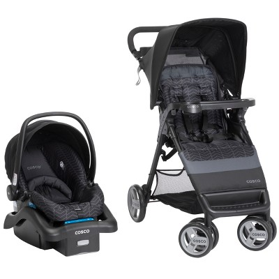 Cosco Simple Fold Travel System - Black Arrows