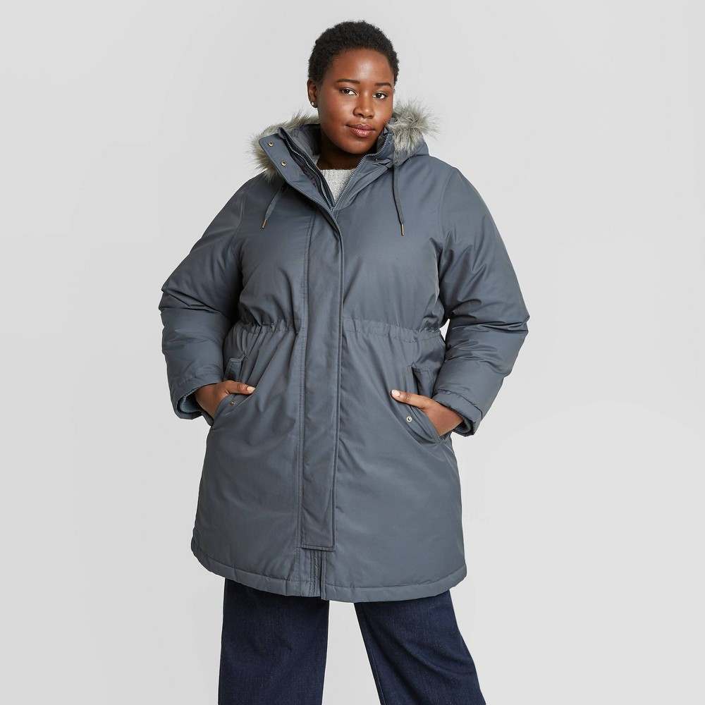 Compare Women's Plus Size Winter Parka Jacket - Ava & Viv™