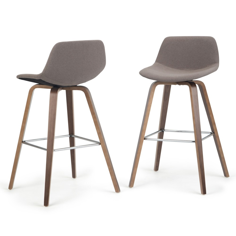 Cool Cacey Bentwood Counter Height Stool Set Of 2 Mocha Brown Ibusinesslaw Wood Chair Design Ideas Ibusinesslaworg