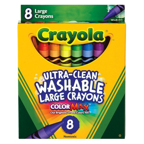 crayola ultraclean crayons large washable 8ct target