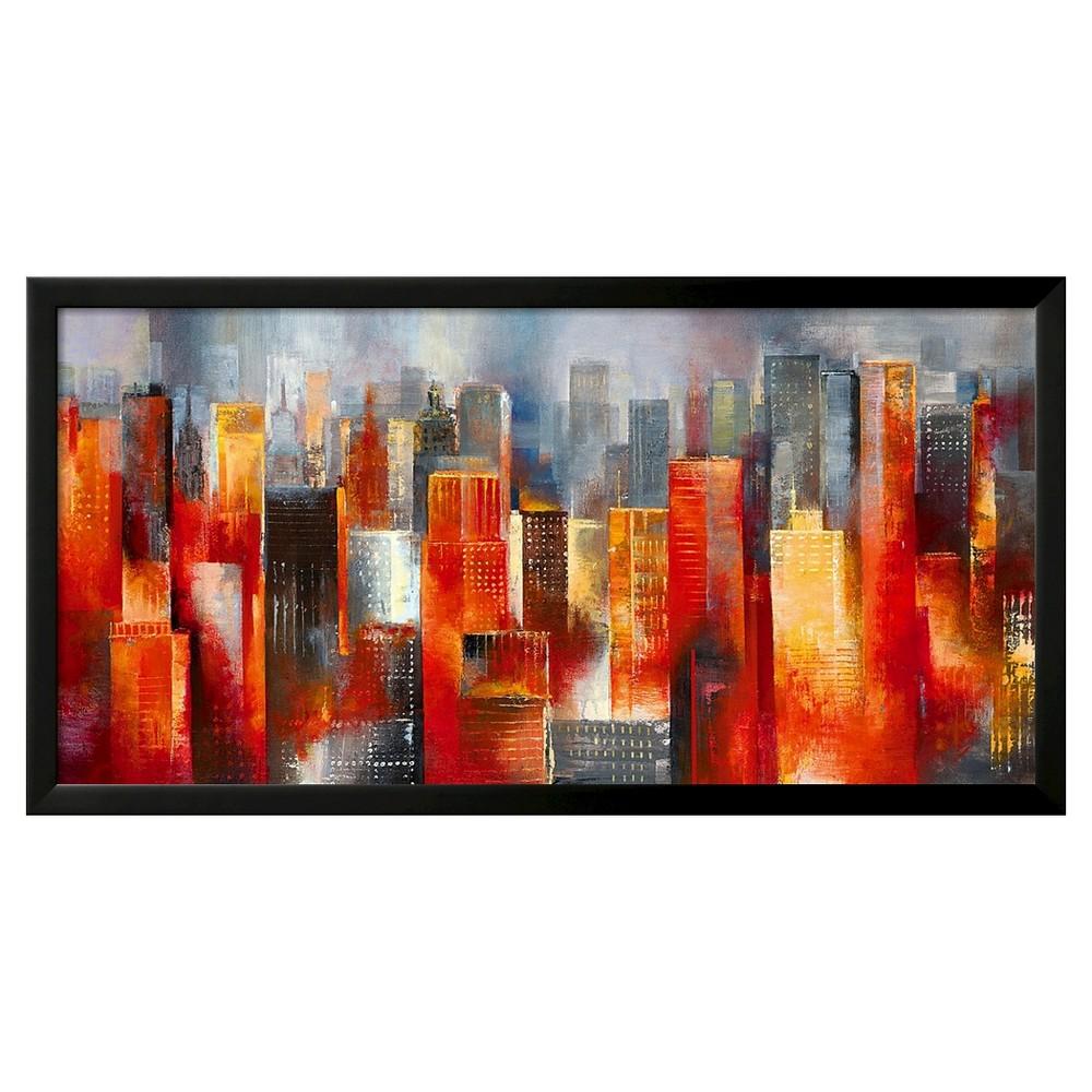 Art.com Metropolis Vista I by Georges Generali - Framed Art Print, Black