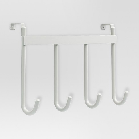 Smooth Over the Door Quad Hook in White - Threshold™ - image 1 of 1
