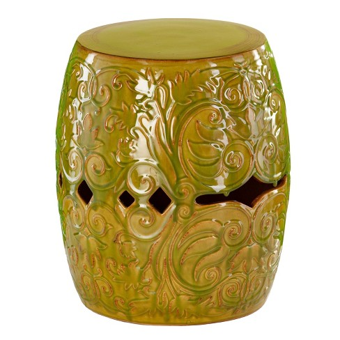 Spokely Ceramic Side Table Chartreuse - Aiden Lane - image 1 of 4