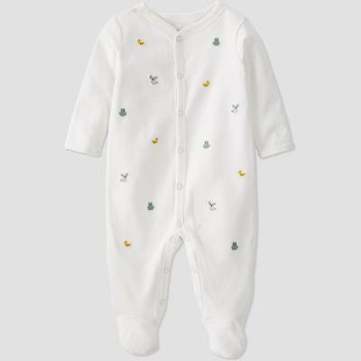 Baby Organic Cotton Heirloom Schiffli Sleep N' Play - little planet by carter's Off-White 3M