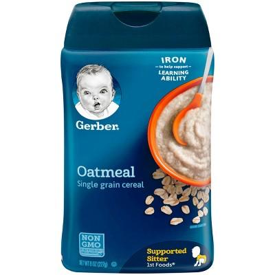 Gerber Single Grain Oatmeal Baby Cereal - 8oz
