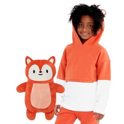 Cubcoats Kids Flynn the Fox 2-in-1 Stuffed Animal & Hooded Pullover Sweatshirt