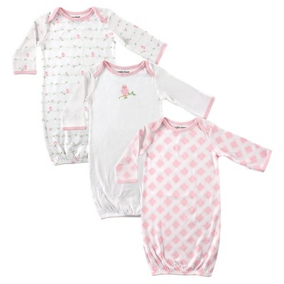 Luvable Friends Baby Girls' 3 Pack Sleeper Set - Bird