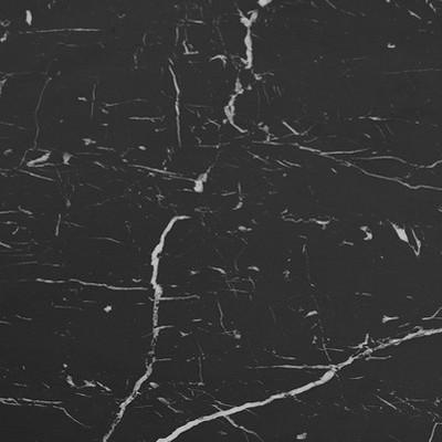 Black Faux Marble/Chrome