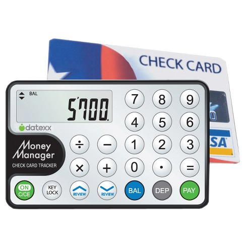 Datexx 8 Digit Financial Calculator and Card Balance Tracker - White (DC-80) - image 1 of 1