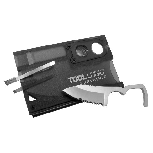 Tool Logic Survival Card with Fire Starter, Compass and Knife - image 1 of 1
