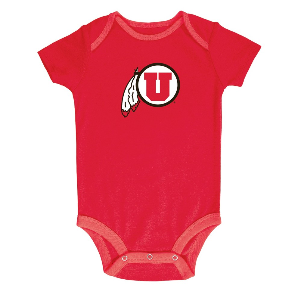 NCAA Baby Boys' 3pk Bodysuit Utah Utes - 3-6M, Multicolored