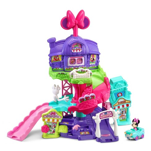 VTech Disney Go! Go! Smart Wheels Minnie Mouse Around Town Playset - image 1 of 4