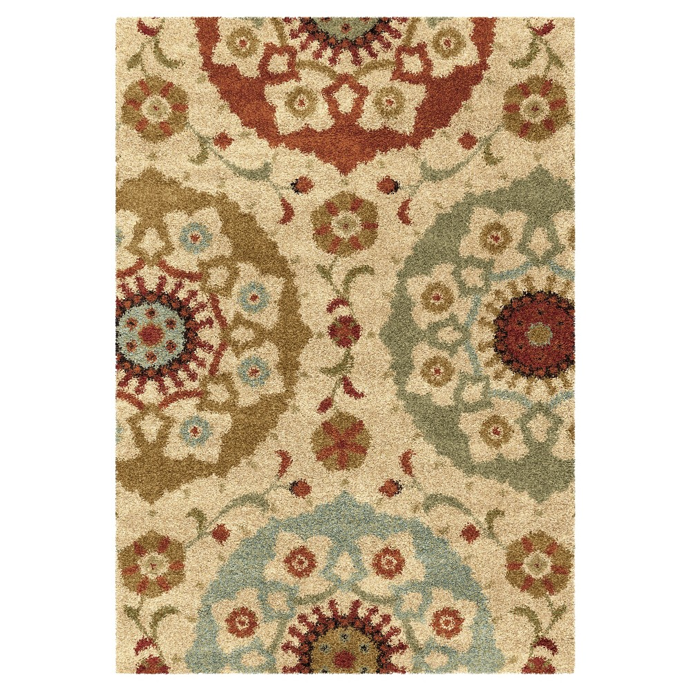 Multicolor Abstract Woven Area Rug - (7'10