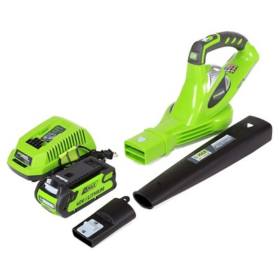 GreenWorks 40V Cordless 150 MPH Blower Exotic Green